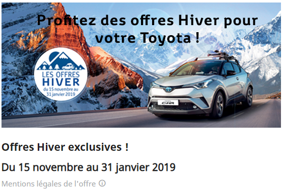 Offres Hiver exclusives !