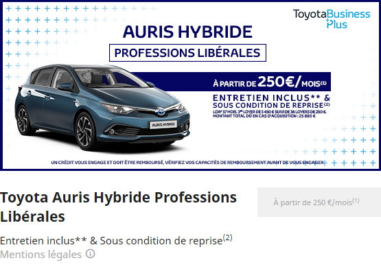 AURIS HYBRIDE PROFESSION LIBERALES